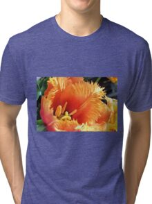 Tulip With A Fringe On Top Tri-blend T-Shirt