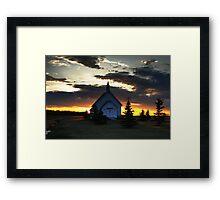 Bold Prairie Sky Framed Print