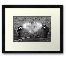 Photographers in Love Framed Print