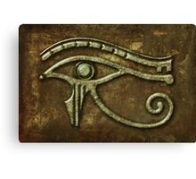 Eye of Horus Rust Canvas Print