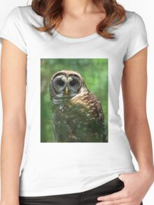 Barred Owl Women's Fitted Scoop T-Shirt
