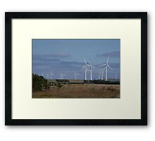 WIND POWER OF THE FUTURE Framed Print