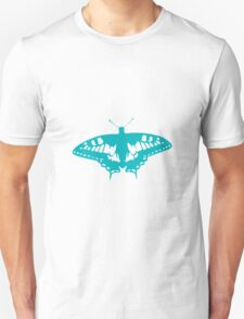 Turquoise Butterfly - Vector Art T-Shirt