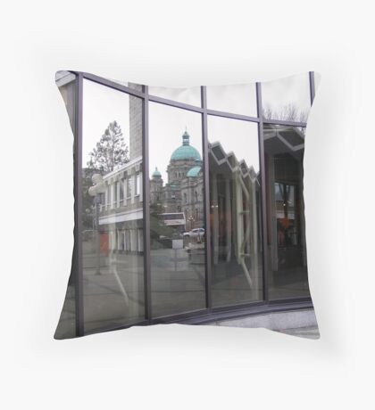 Mirrored Cityscape Throw Pillow