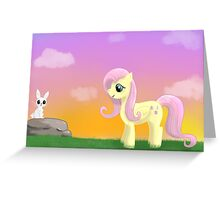 Fluttershy Sunset Greeting Card