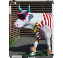 Painted Cow on Holiday - at Floriade iPad Case/Skin