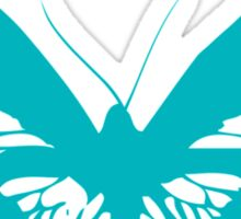 Turquoise Butterfly - Vector Art Sticker