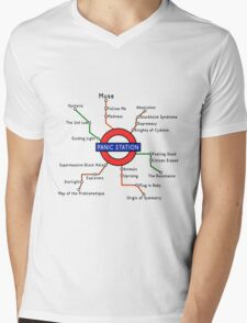Panic Station Underground Map Mens V-Neck T-Shirt
