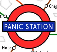 Panic Station Underground Map Sticker