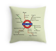 Panic Station Underground Map Throw Pillow