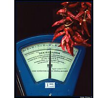 Scale and Hot Pepper in a Grocery Shop Photographic Print