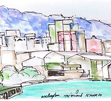 Wellington City Evening Skyline by beniaminus