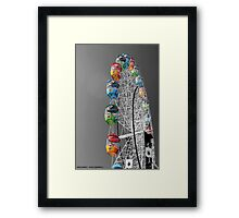 Coloured Ferris Wheel Framed Print