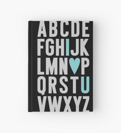 ABC I Love You Blue Hardcover Journal