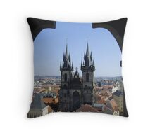 Tyn Church, Prague Throw Pillow