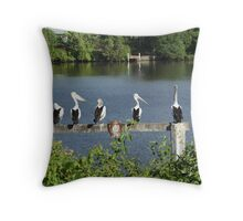 Pelicans On The Manning Throw Pillow