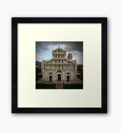 Faith by Numbers Framed Print