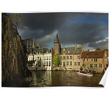 Clouds over Brugge Poster