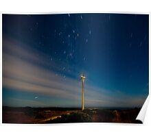 Cape Bridgwater Wind Farm Star Trail Poster