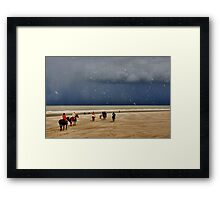Easter on the North Sea Beach....... Framed Print