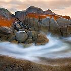 Rocks and Sea - Bicheno Tasmania by Hans Kawitzki