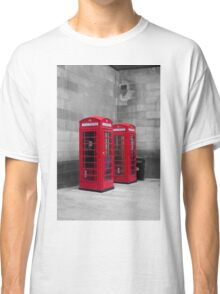 Two Traditional Red Telephone Boxes Classic T-Shirt