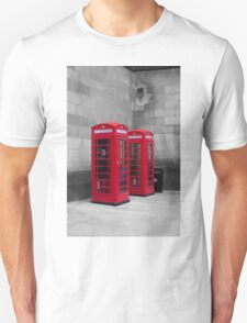Two Traditional Red Telephone Boxes T-Shirt