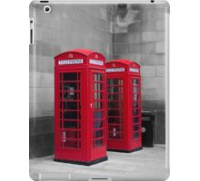 Two Traditional Red Telephone Boxes iPad Case/Skin
