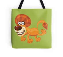 Funny running lion Tote Bag