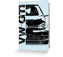 vw gti Greeting Card