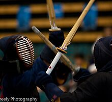 Flying shinai by Martin Creely