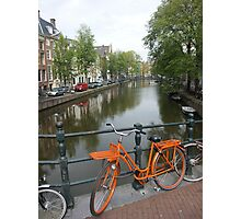 Amsterdam Bicycles and Canals Photographic Print