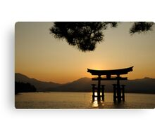 Itsukashima shrine Canvas Print