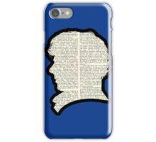 Sherlock Holmes - Benedict Cumberbatch silhouette iPhone Case/Skin