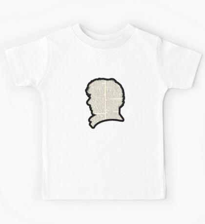 Sherlock Holmes - Benedict Cumberbatch silhouette Kids Tee