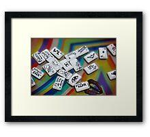 Chuddy Messages Framed Print