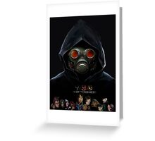 9 Hours 9 Persons 9 Doors Greeting Card