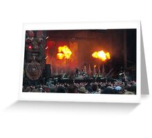 Motley Crue live at Download 2015 Greeting Card