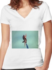 3. Red Arrows at Llandudno Women's Fitted V-Neck T-Shirt