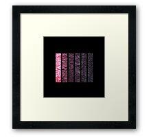 Tints of Purple Framed Print