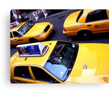 Yellow taxis everywhere Canvas Print