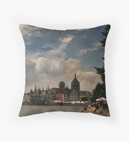 View of Gdansk Throw Pillow