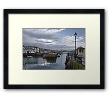 Evening at Custom House Quay, Falmouth Framed Print