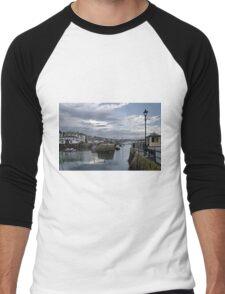 Evening at Custom House Quay, Falmouth Men's Baseball ¾ T-Shirt