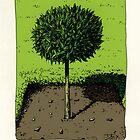 Bay Tree Burford House - Greetings Card by DExWORKS