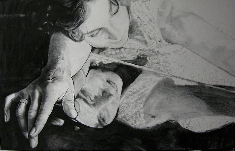 Step 2...more charcoal and contrasting by Warren Haney
