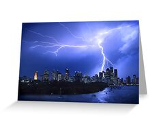 Brisbane City Lightning Strike Greeting Card