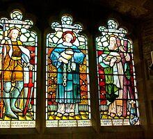 Hubberholme Church Window #2 by Trevor Kersley