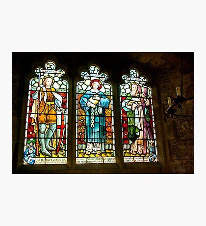Hubberholme Church Window #2 Photographic Print