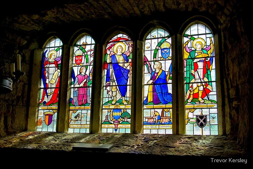Hubberholme Church Window #3 by Trevor Kersley